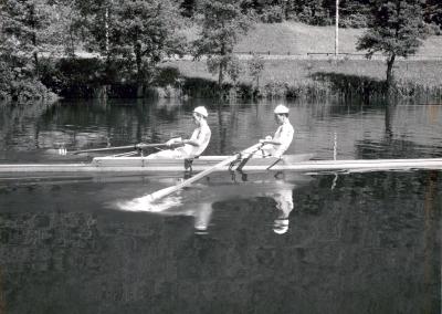 Zwei Ruderer auf dem Rotsee