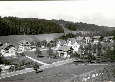Rotsee-Wache Ebikon (Wachtlokal viertes Haus von rechts), 1940