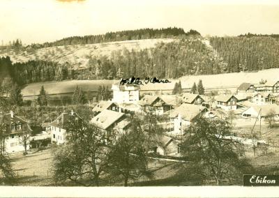 Villa Klara, im Hintergrund der Rotsee
