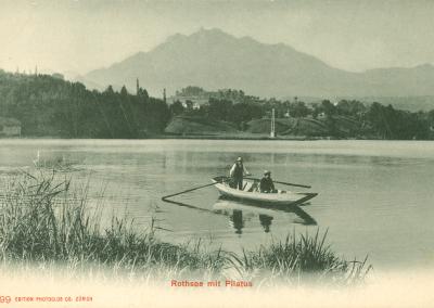 Rotsee mit Pilatus, wahrscheinlich vor 1905