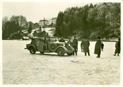 Auf dem Eise des Rotsee, Januar 1940