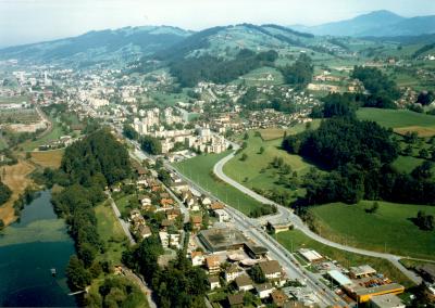 Swissair Luftaufnahme, 14.09.1983