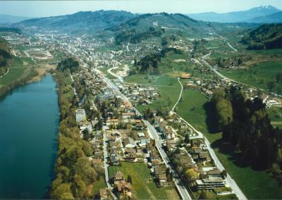 Swissair Luftaufnahme. 28.04.1984